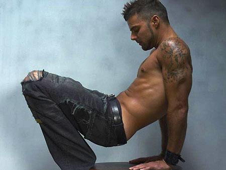 Ricky Martin Naked